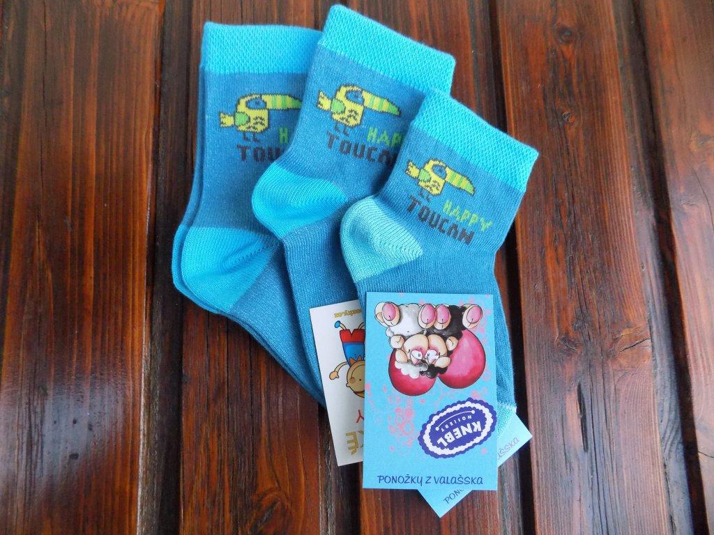 Celoroční dětské ponožky bavlněné pro kluky tukan