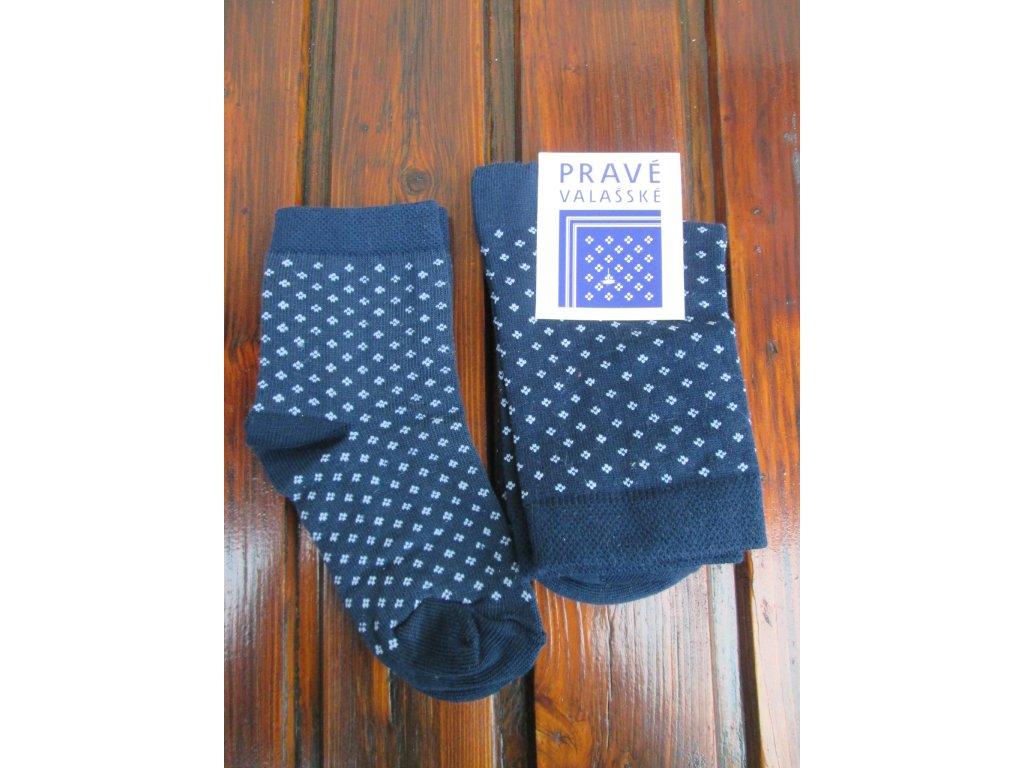 Celoroční dětské ponožky bavlněné pro kluky modrotisk