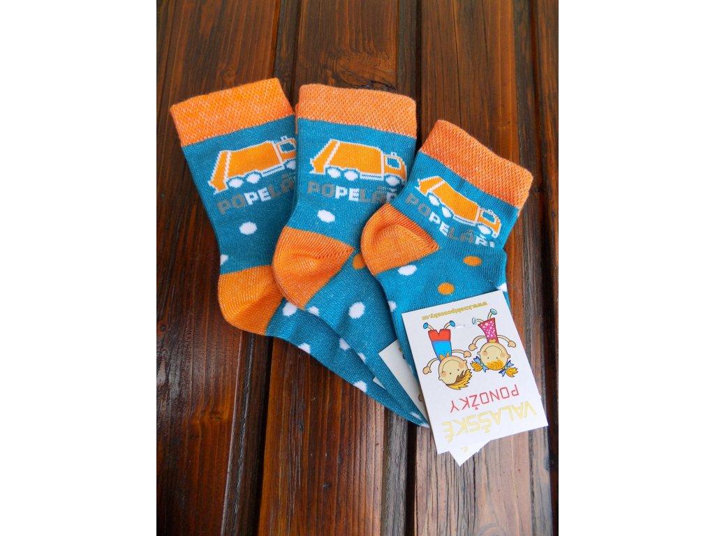Celoroční dětské ponožky bavlněné pro kluky popeláři