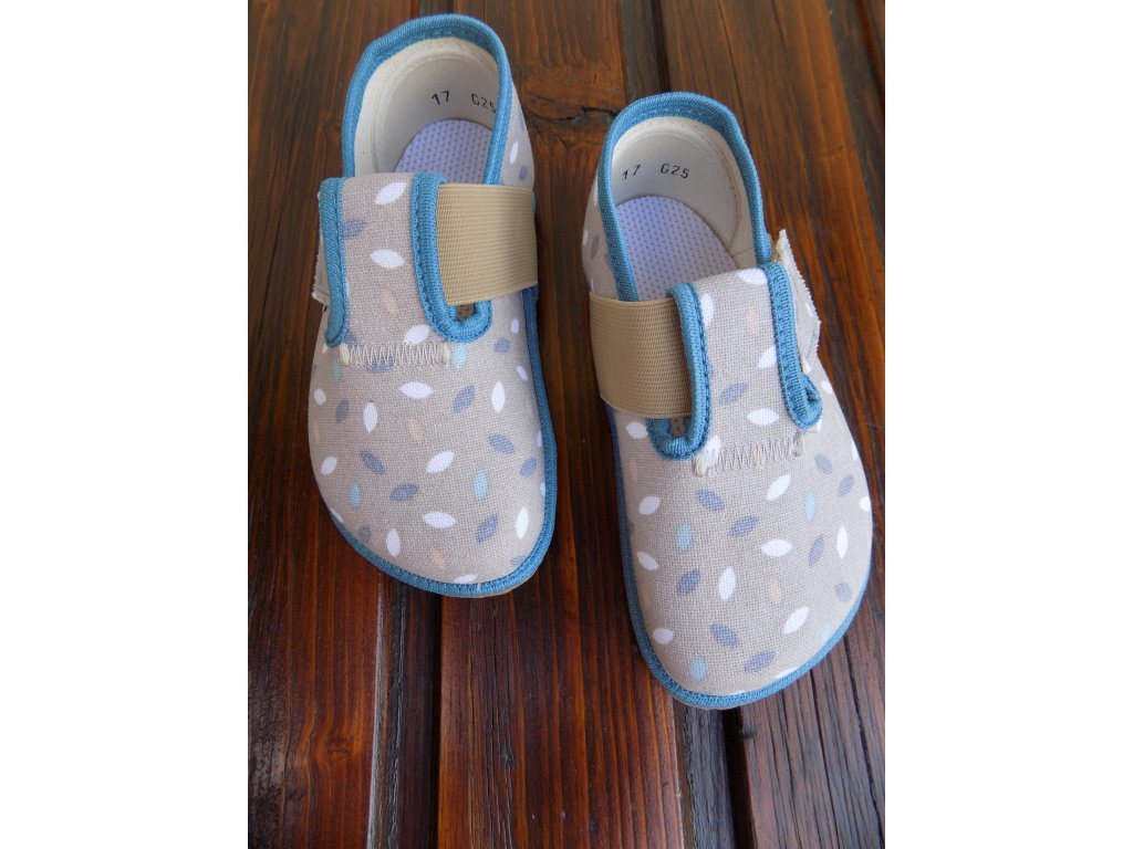 Pegres barefoot přezůvky chlapecké BF01 modré