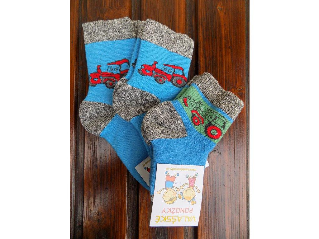 Zimní ponožky froté traktor
