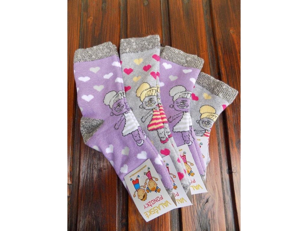 Zimní ponožky froté panenka