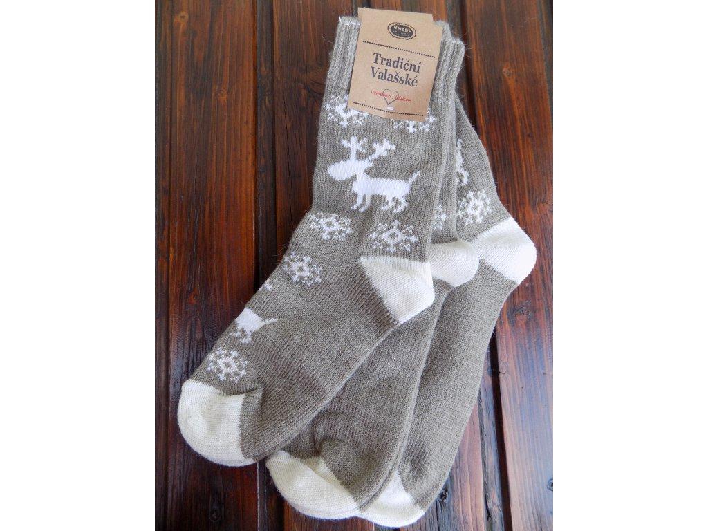 Zimní dámské/pánské ponožky vlněné/froté sob
