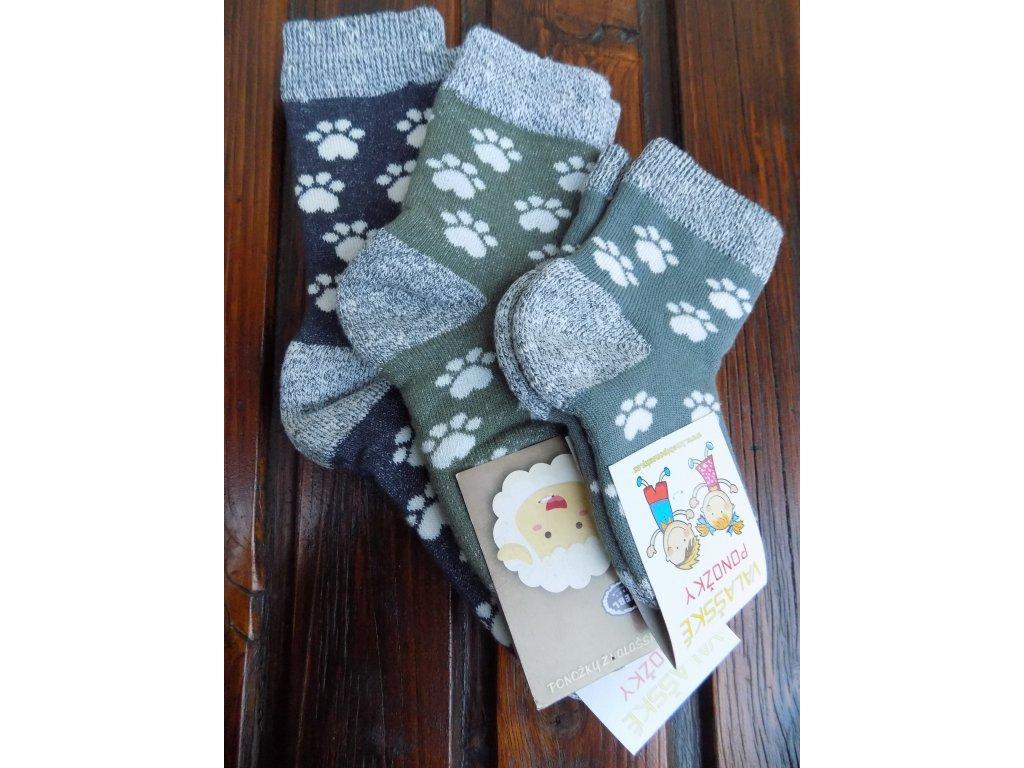 Zimní ponožky froté tlapky