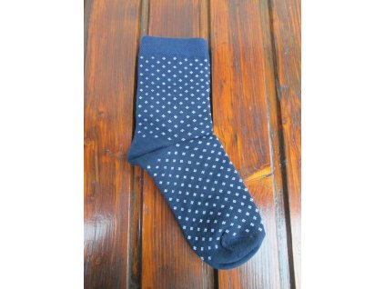 Celoroční dámské/pánské ponožky bavlněné modrotisk