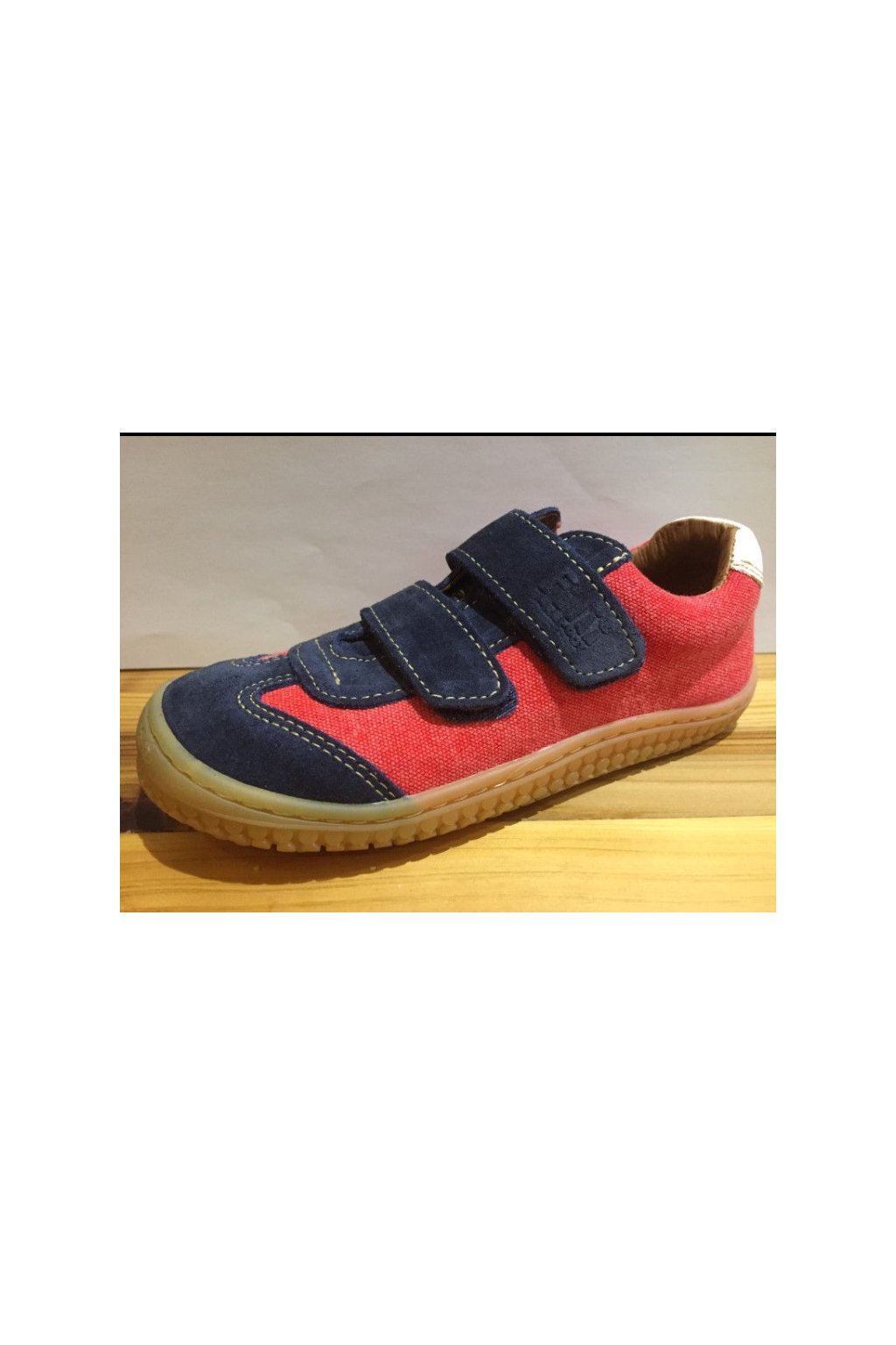 Filii Barefoot - Red/Ocean Velours Textil