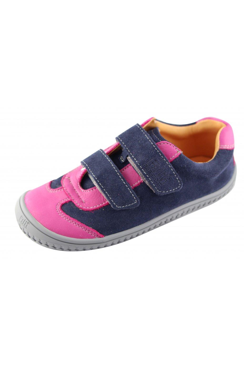 Filii Barefoot Klett Tenisky Ocean/Pink Velour - W