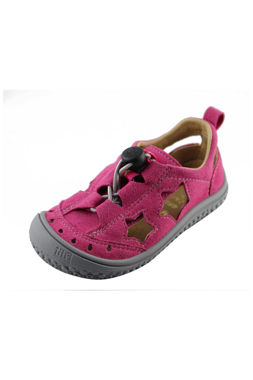 Filii Barefoot Vegan sandálky pink stars