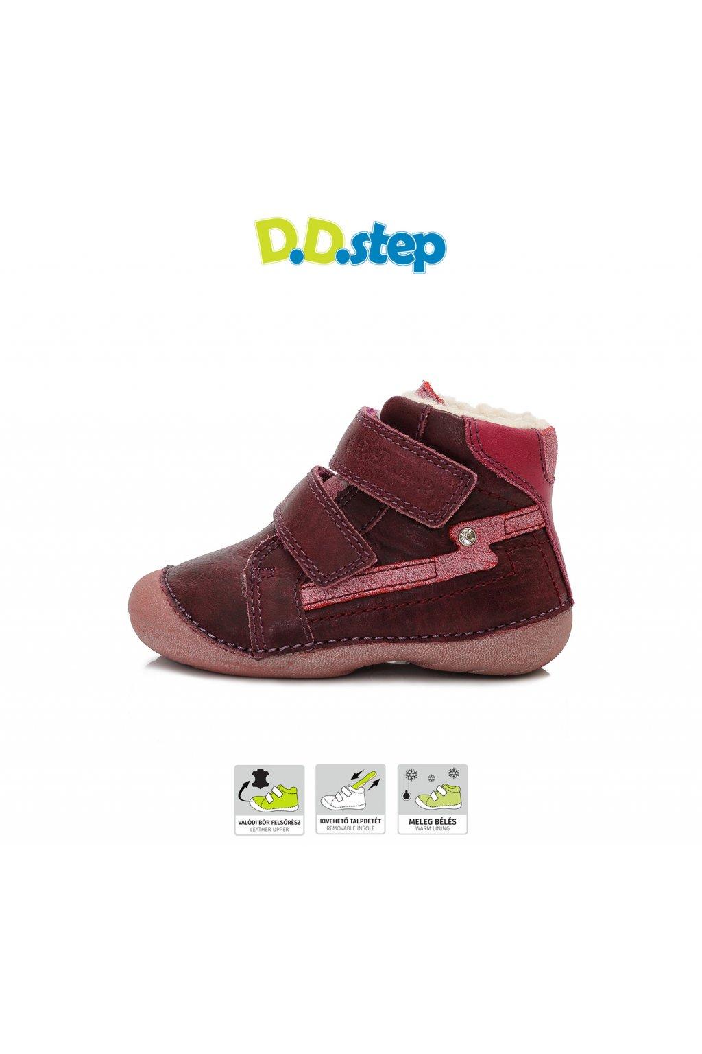 D.D.Step čižmičky Raspberry s TEX úpravou