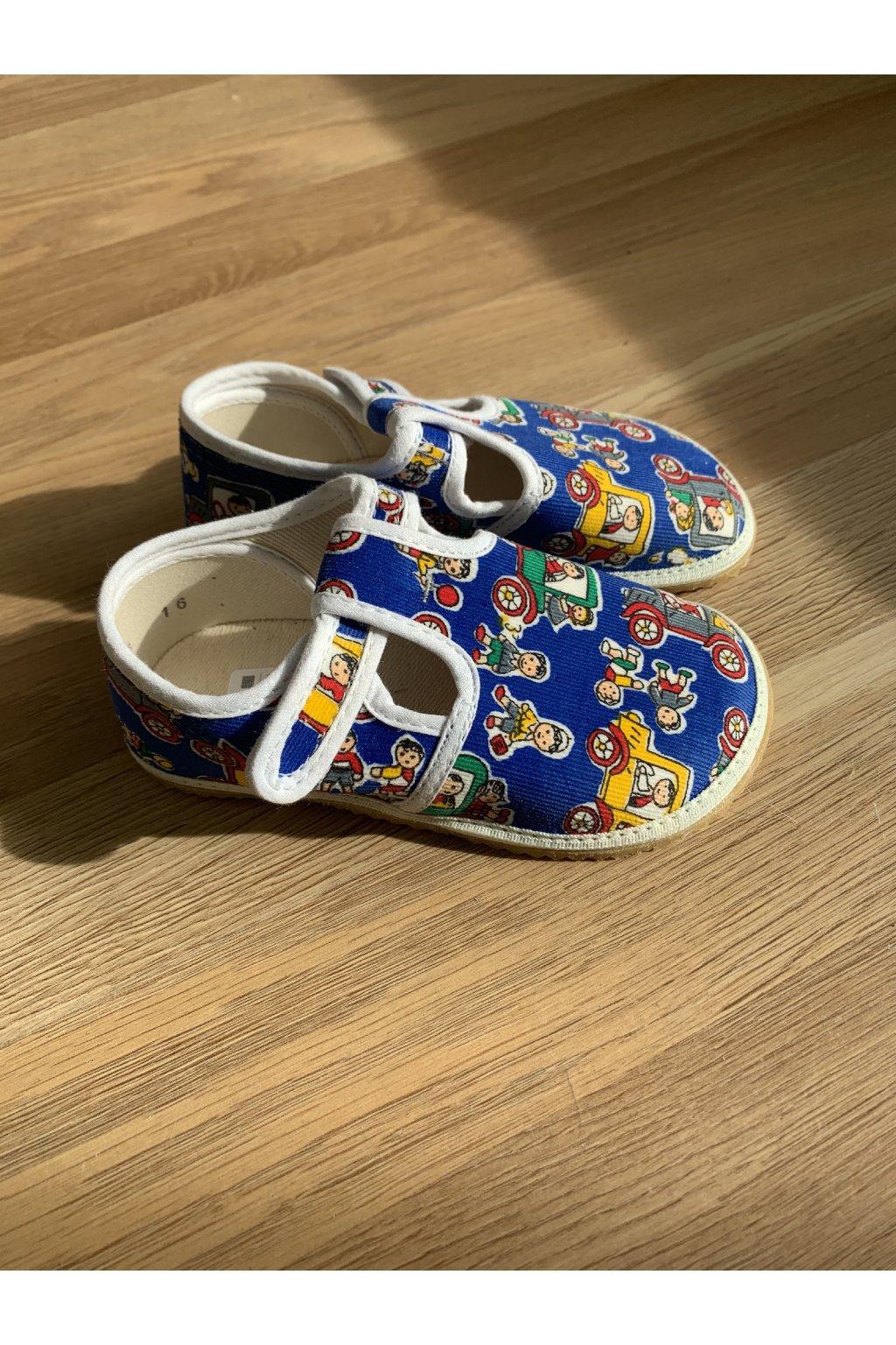 Jonap papučky Modré - Autíčka a deti