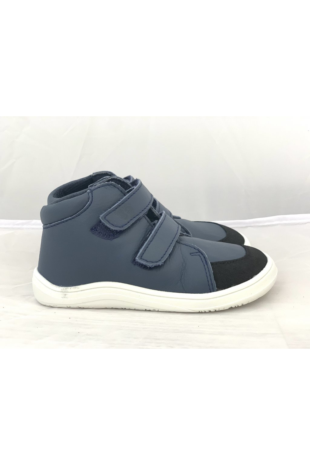 Baby Bare Shoes Febo FALL Navy s okopom - hladká koža+membrána