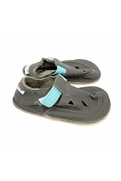 Baby Bare Shoes IO Blue Beetle - TOP STITCH