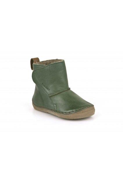 Froddo Boots Dark Green - Jahňacia Kožušina