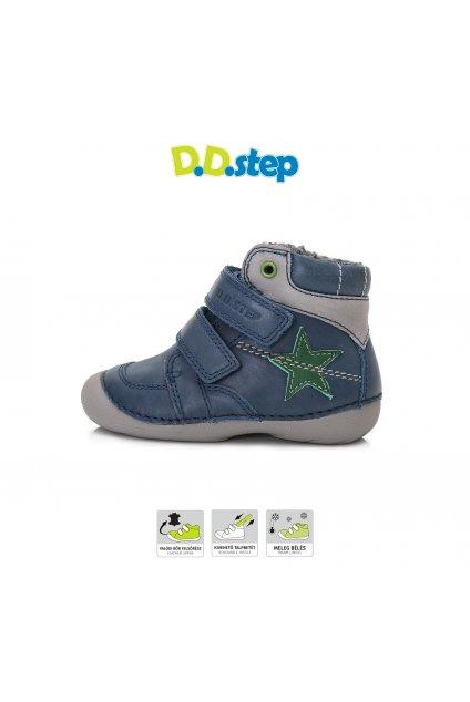 D.D.Step čižmičky Bermuda Blue Hviezda s TEX úpravou