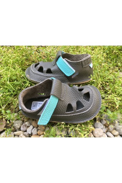 Baby Bare Shoes IO Blue Beetle - Summer Perforation