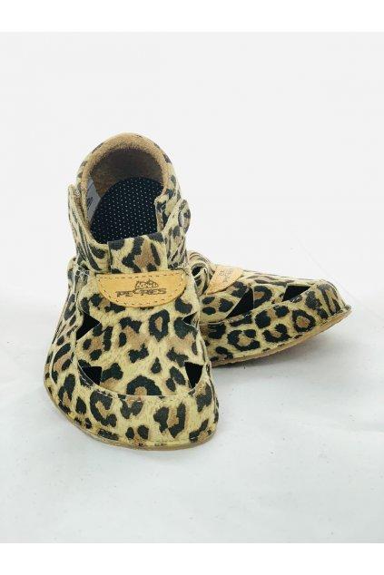 Sandálky Pegres - Leopard