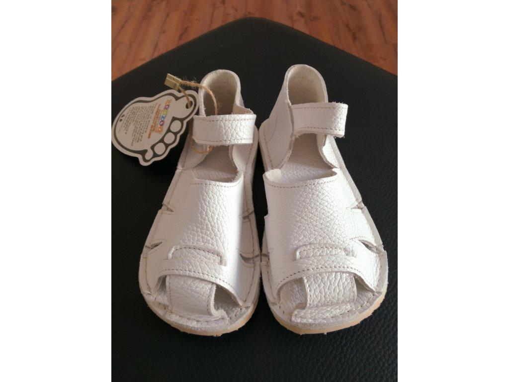 Zeazoo sandálky Shell white