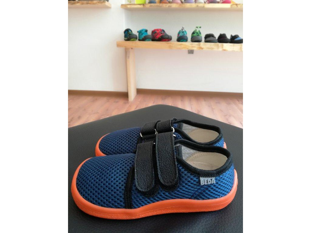 Beda - síťované tenisky Blue Mandarine