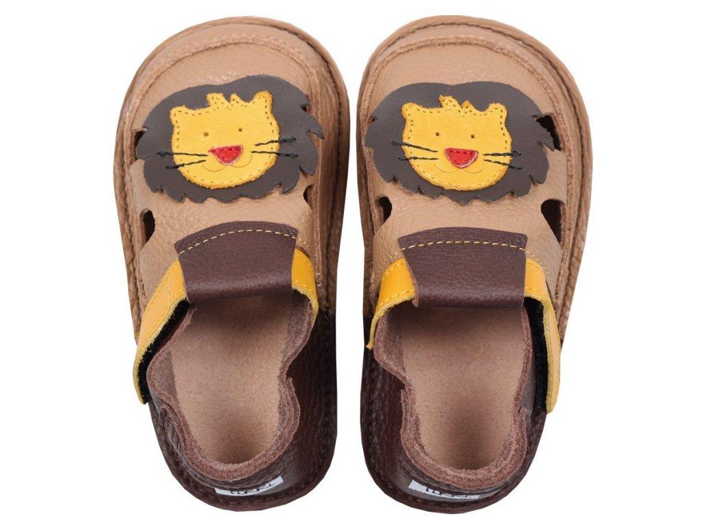 barefoot kids sandals fearless lion 87 4