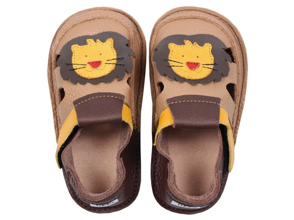 barefoot kids sandals fearless lion 87 4