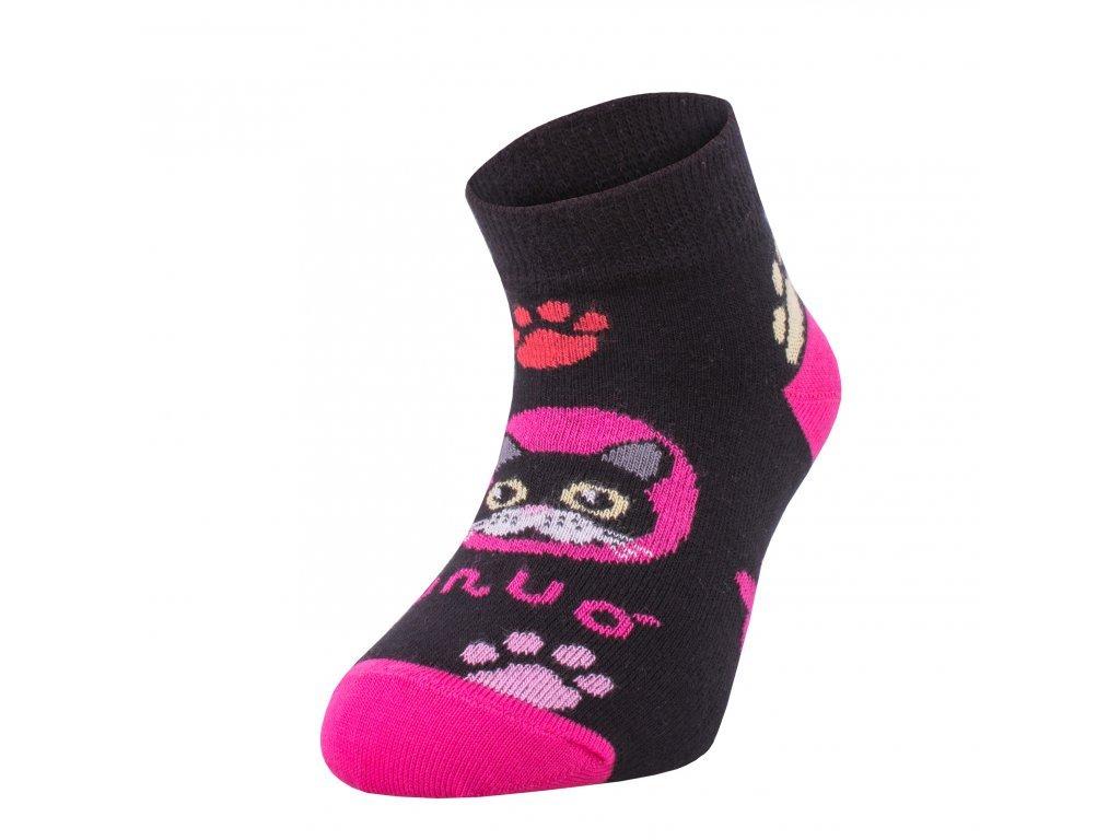 8205 bambusove kotnickove ponozky kocka ruzove bamboo ankle socks printed