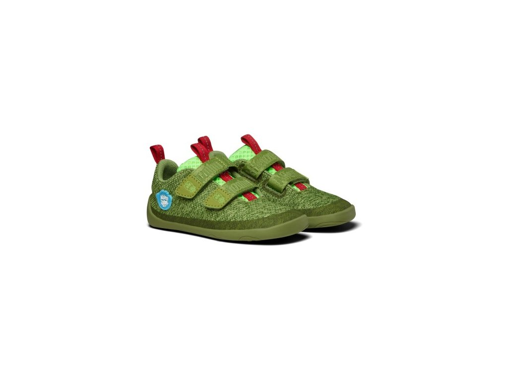 Lowcut knit dragon green red