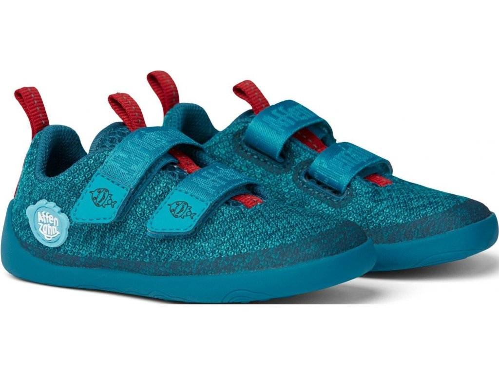 Lowcut knit shark blue red
