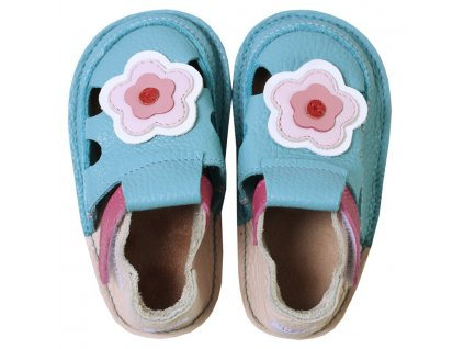 barefoot kids sandals cherry flowers 127 4