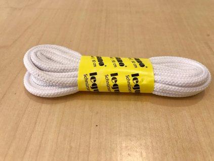 Leguano tkaničky, bílé kulaté, 110 cm