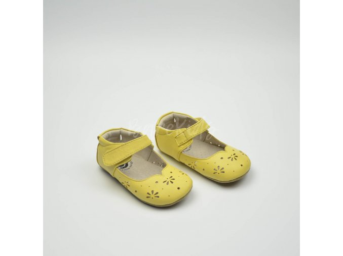 LIVIE & LUCA ASTRID YELLOW CREAM PERF - LEATHER