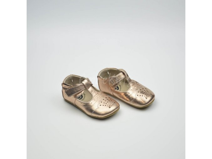LIVIE & LUCA CORA ROSEGOLD METALLIC - LEATHER