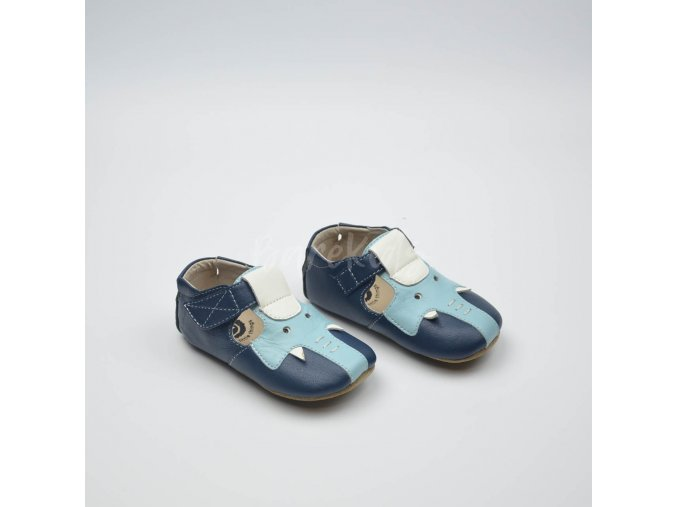LIVIE & LUCA ELEPHANT NAVY BLUE - LEATHER