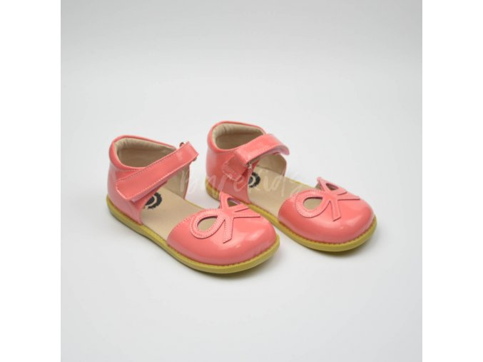 LIVIE & LUCA BOW CORAL - LEATHER