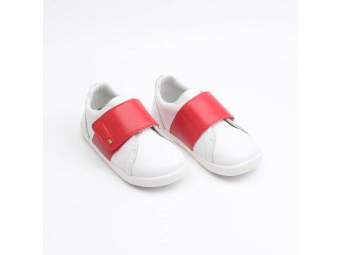 BOBUX BOSTON WHITE + RED - I WALK