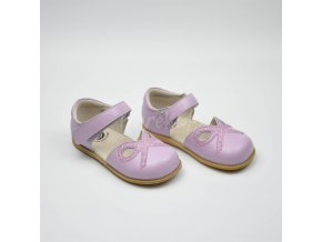 LIVIE & LUCA BOW LAVENDER - LEATHER