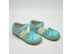 LIVIE & LUCA BOW TURQUOISE - LEATHER