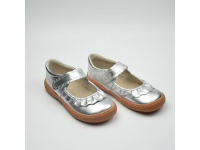 LIVIE & LUCA RUCHE SILVER METALLIC