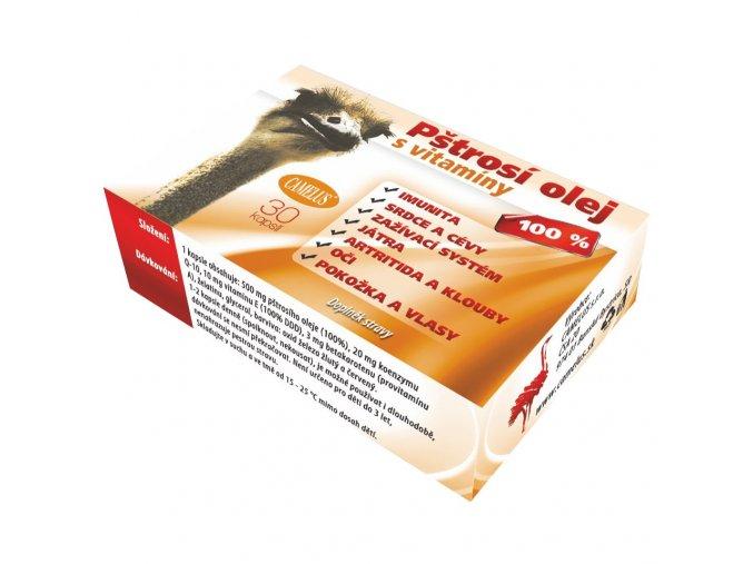 CAMELUS - Pštrosí olej s vitamíny 4+1 balení zdarma