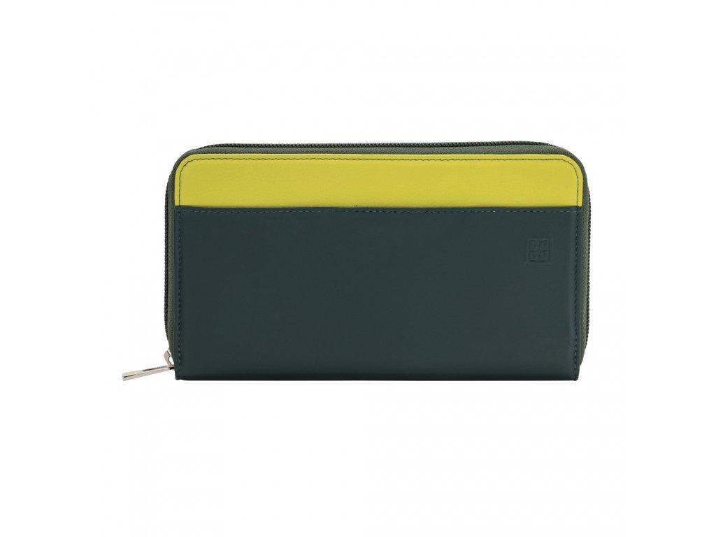 Dámská kožená peněženka DuDu Mauritius - Tmavě zelená