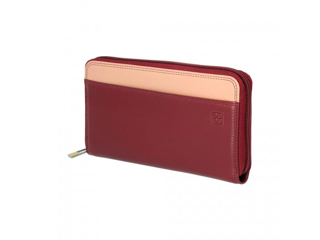 Dámská kožená peněženka DuDu Mauritius - Vínová