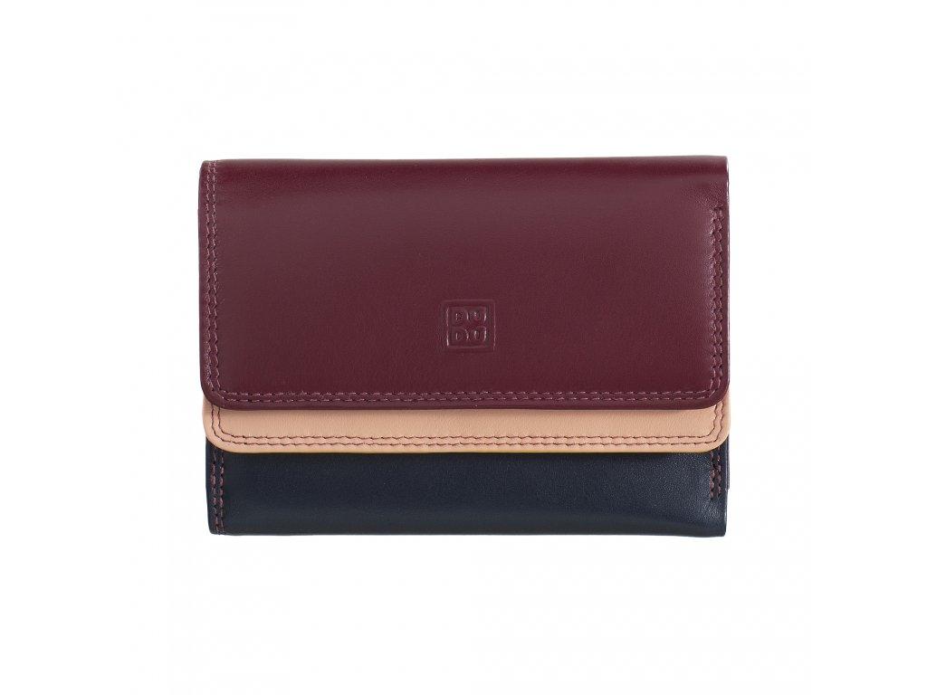 Dámská kožená peněženka DuDu Fiji - Vínová