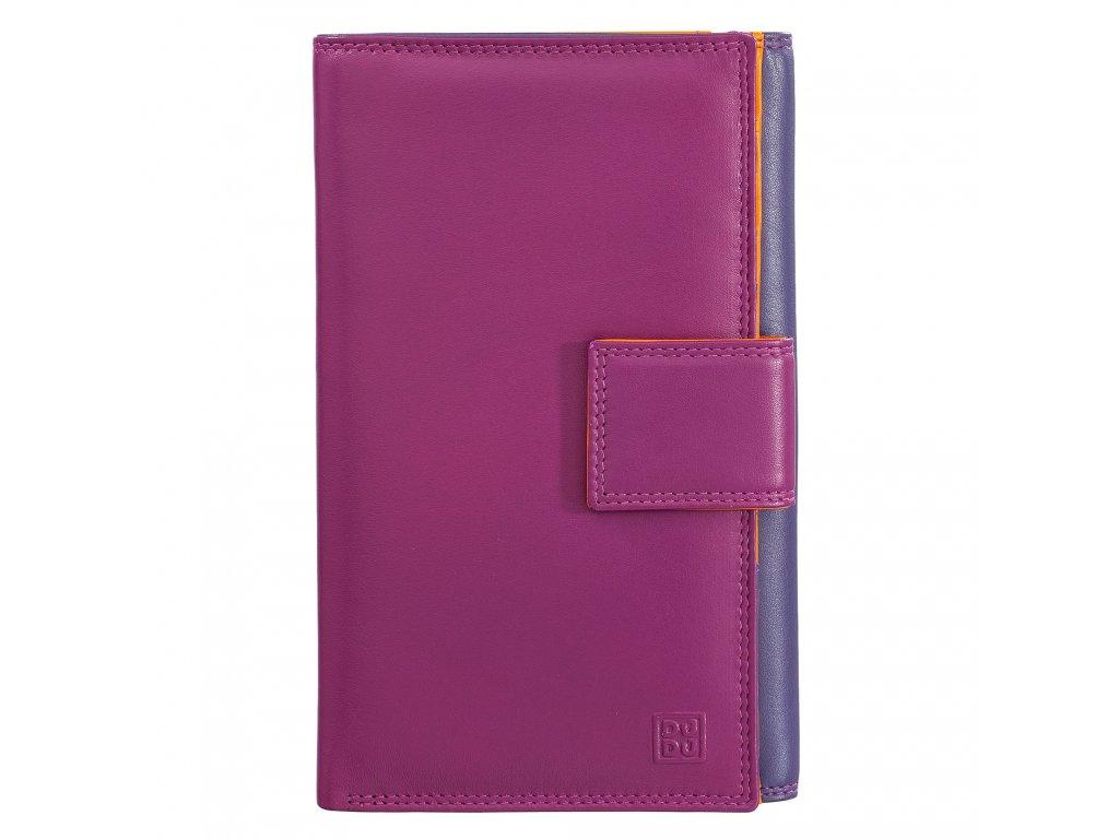 Dámská kožená peněženka DuDu Giava - Fialová