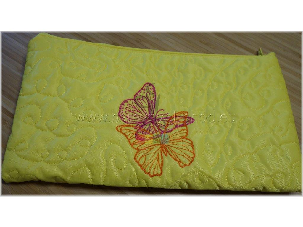kosmetická taštička s motýly