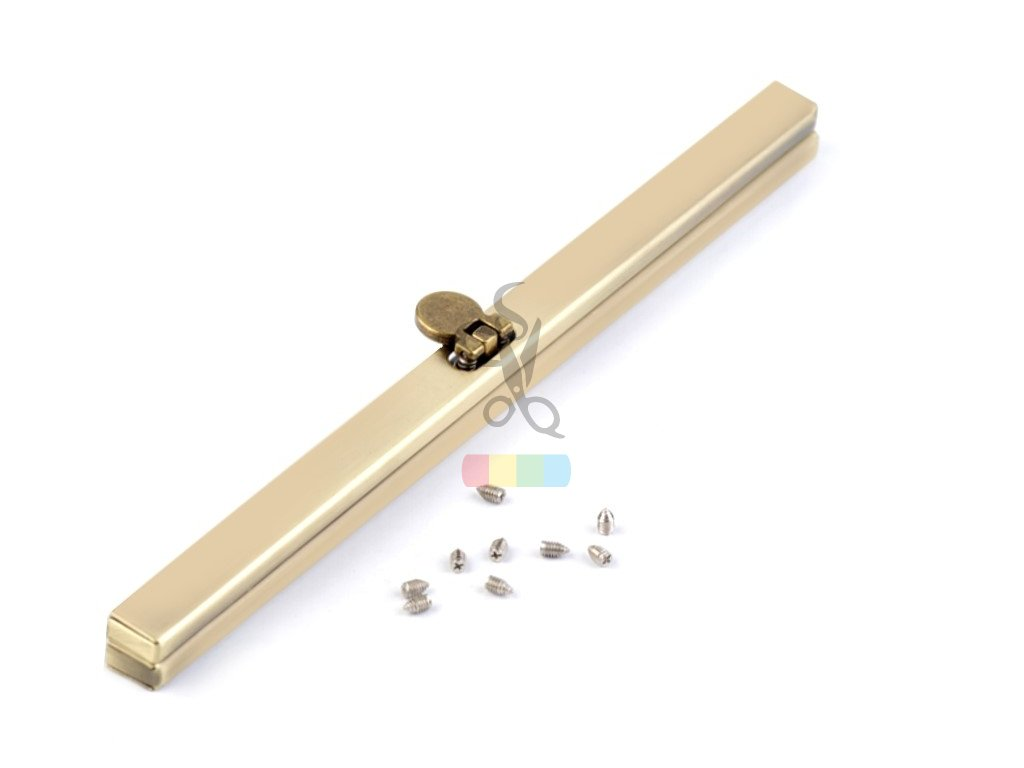 rámeček na výrobu kabelky 1x19 cm vkládací - staromosaz
