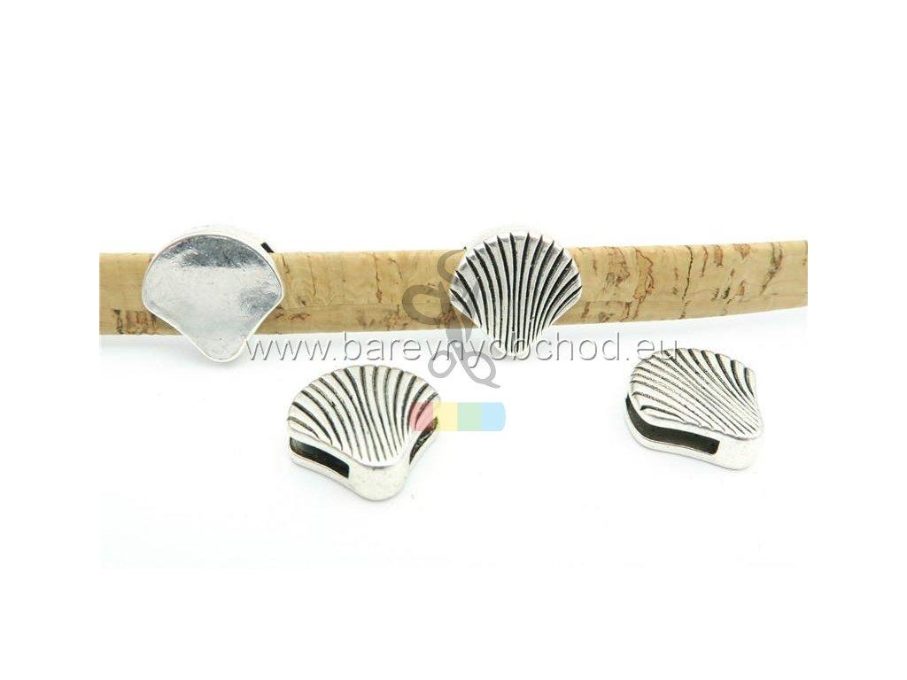 mušle pro plochý pásek 10 mm - stříbrná