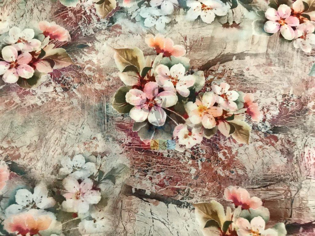 hedvábí - třešňové květy