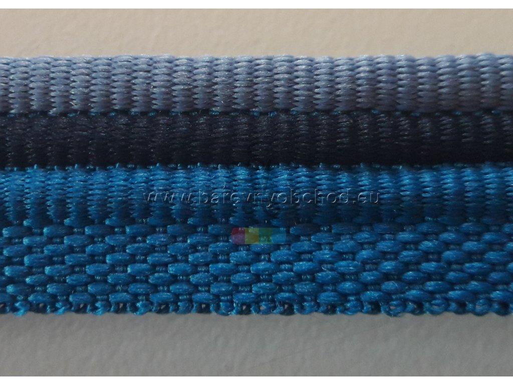 paspulka tricolor - sv.modrá/černá/tm.modrá