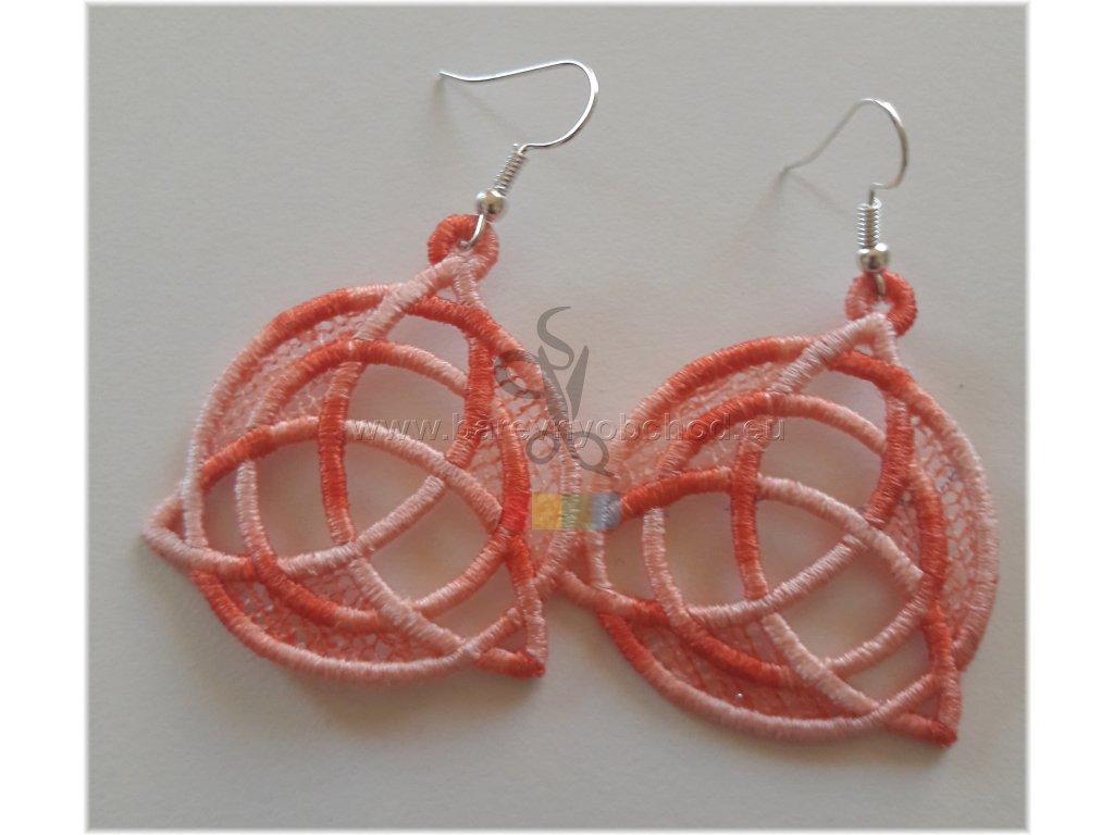 náušnice - kruhy - oranžové