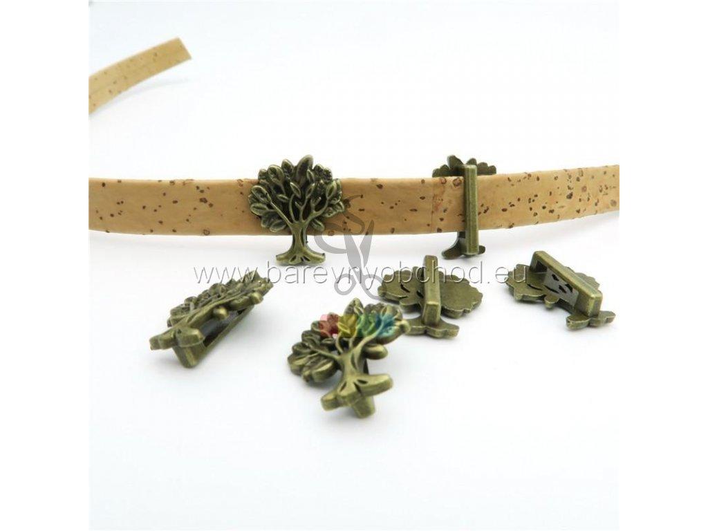 stromeček pro plochý pásek 10 mm - bronzový