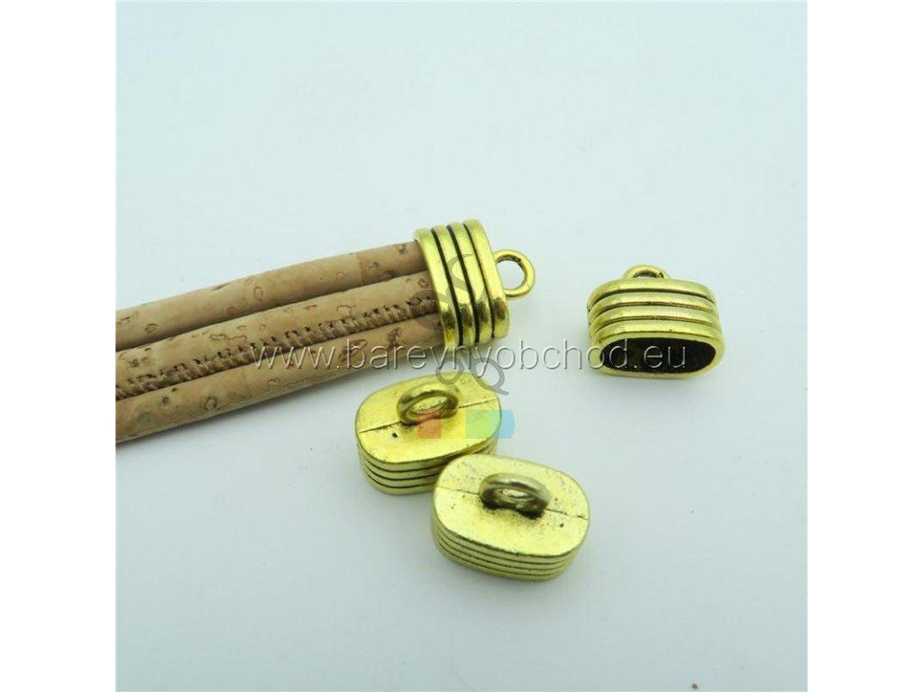 koncovka na klíčenku větší - zlatá